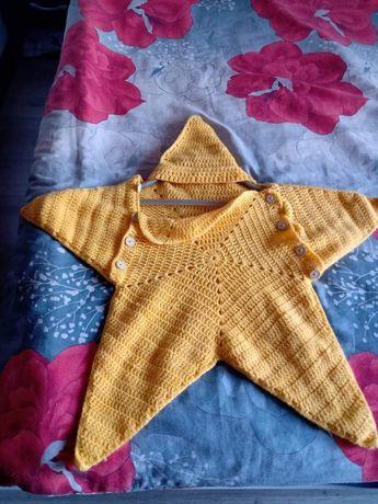Плетени бебешки чувалчета