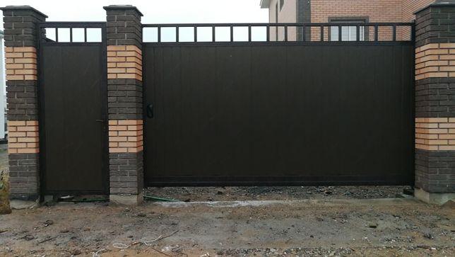 Изготовление и установка откатных, распашных ворот.