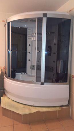 Угловая душ кабина с наворотами!