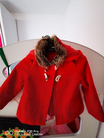 Palton fetița rosu