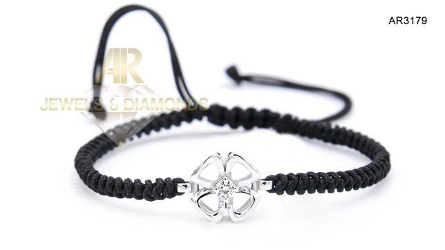 Bratara Aur Alb cu diamante model nou ARJEWELS(AR3179)