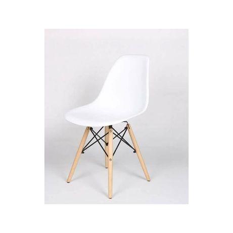 Трапезен стол иви бял