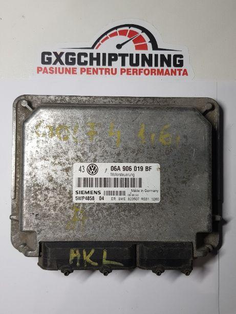 ECU Calculator motor VW Golf4 1.6 06A906019BF 5WP485804 SME 823507 AKL