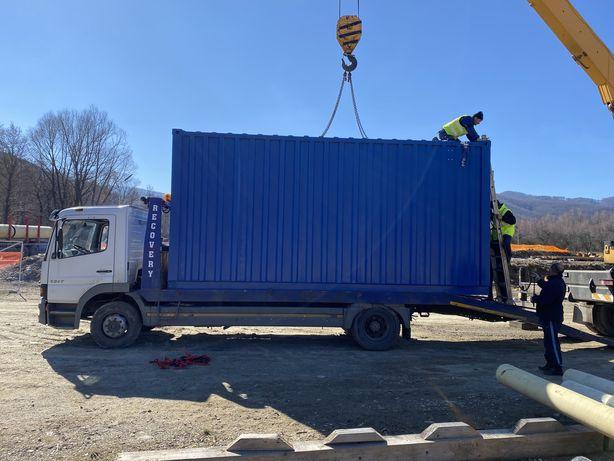 Transport utilaje, containere, autoutilitare etc