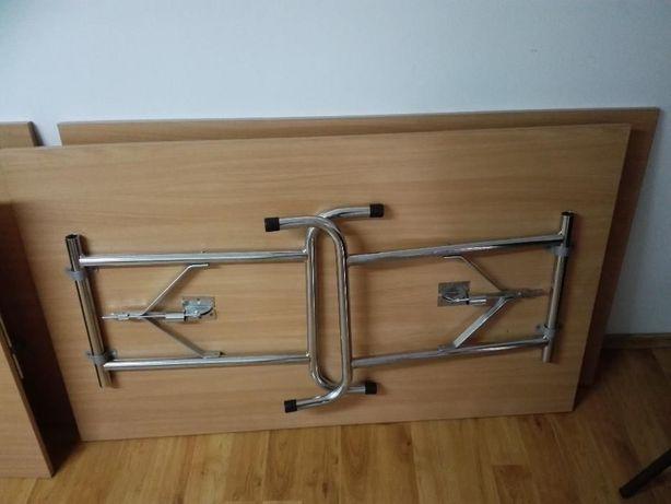 masa birou 130x80cm transportabila - picioare pliante + casetiera