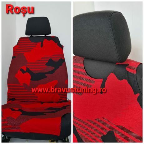 Huse scaun auto Maieu Army Rosu/Albastru/Verde/Turcoaz, 2 buc/set