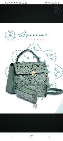 Colectia Aquarian - geanta si portofel