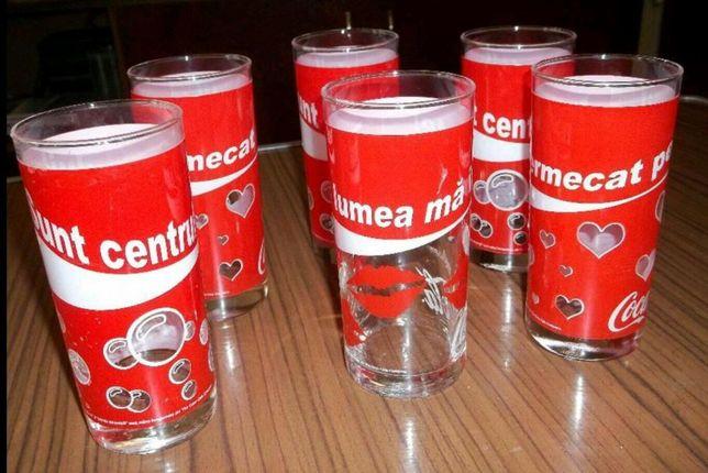 Pahare Coca Cola de colectie