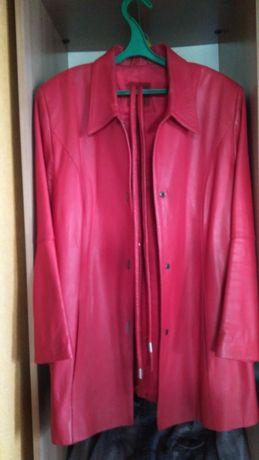 Продам или обменя жен. кож / куртку, пиджак кашемировый, пиджак х/ б .