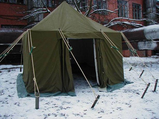 Палатка армейская брезентовая 3х6м. Военная