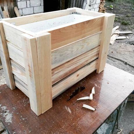 Кашпо (ящик под цветы)  Из дерева (Топляк) Размер 60 см. На 30 см. Под