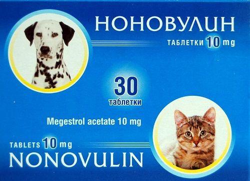 Ноновулин- За блокиране на еструса/разгонване/ при кучета и котки