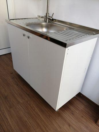 Нов Шкаф с мивка 100/50 с средно корито за кухня.Кухненска мивка