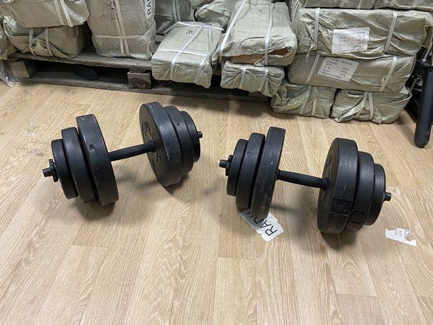 Gantere Haltere  reglabile set 38 kg noi made in germany, 19+19=38 kg.