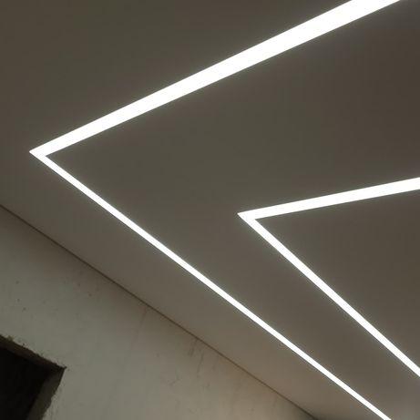 Световые линии   натяжной потолок