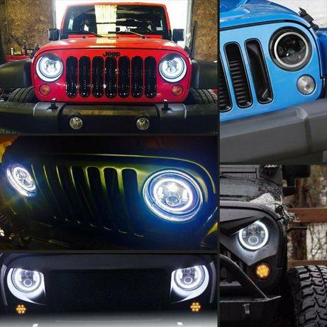 """7"""" Инч Диодни фарове за джип, фарове за Jeep Lada Niva Jeep Wrangler"""