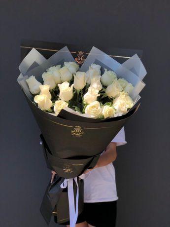 Цветы Алматы с круглосуточной доставкой, Розы, Букеты, пионы