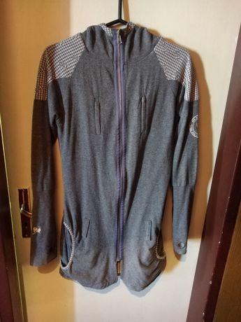 Спортно елегантно сиво горнище--палто