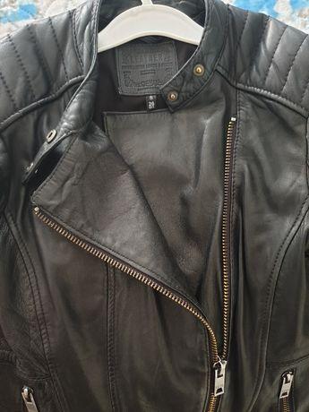Bershka - дамско яке от естествена кожа