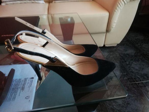 дамски обувки естествен велур кожа нови промоция