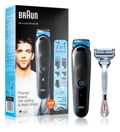 Машинка за подстригване с тример за брада Braun 7-in-1 MGK3242