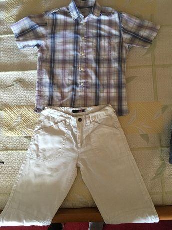 Лот риза 8г,и дънки бели 7/8 са