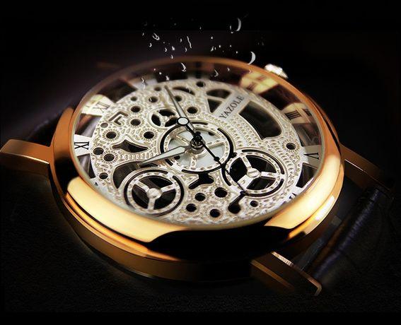"""Шикарные мужские наручные часы """"Yazole""""/Акция/Kaspi RED/Рассрочка"""