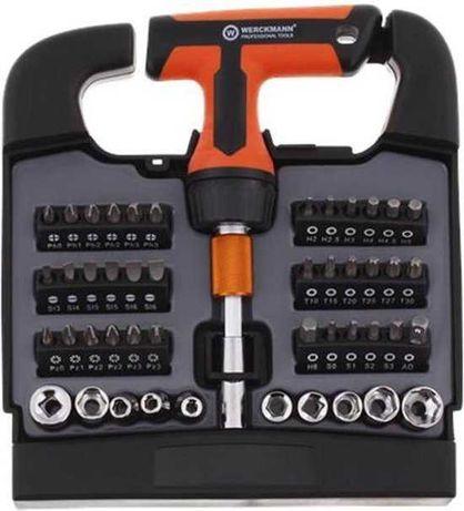 Комплект отвертка- тресчотка с 48 бита и накрайници от Werckman ™