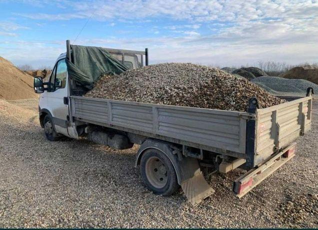 Transport/vand nisip balastru pietris margaritar Pamant negru