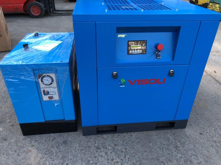 Compresor surub 7,5kw Visoli +Uscator--NOU Timisoara - imagine 1