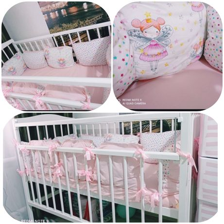 Детский кровать вместе балдахин, бортики матрасом все 25000