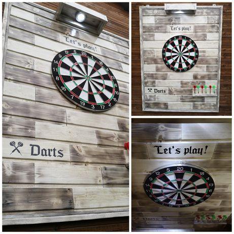 Placa lemn cu darts - handmade