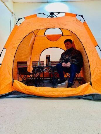 Палатка зонт 210× 210 ×170.квадратная. высокая. Зимния. Трехслойная