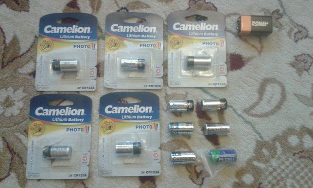 Батарейки Camelion CR123A для фотоаппарата, видеонаблюдение