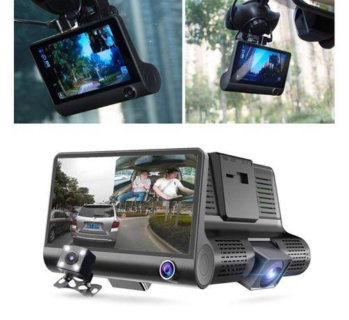 Видеорегистратор/камера WDR FULL HD за автомобил, записваща с 3 камери