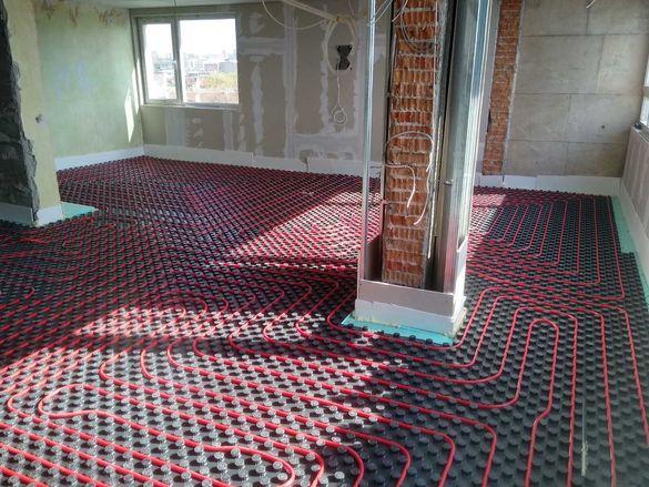 монтаж на  водно подово отопление и охлаждане