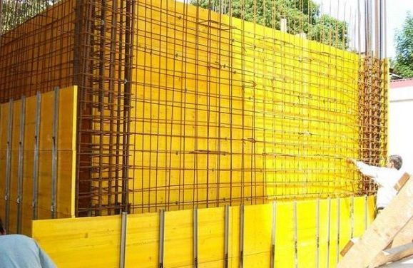 Бюджетен кофраж за стени и колони