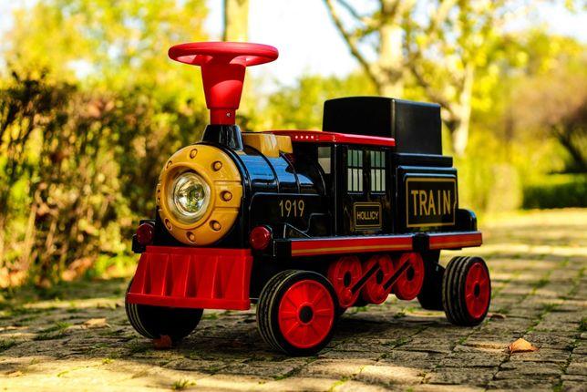 Trenulet electric pentru 2 copii Hollicy SX1919 cu Bluetooth #Black