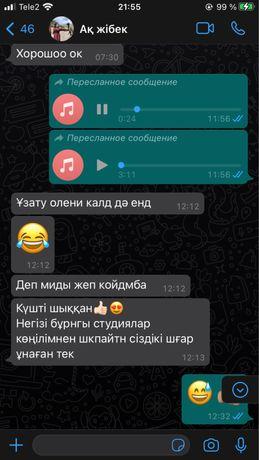 Звукозапись от 5000тг  Адрес возле Жастык чайханы пр абая 21
