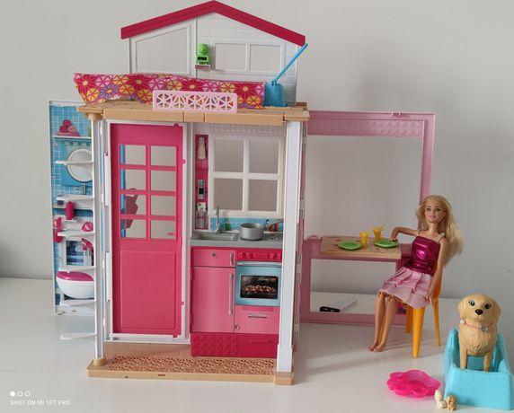 Casa de barbie mattel  si set o papusa Barbie cu caine