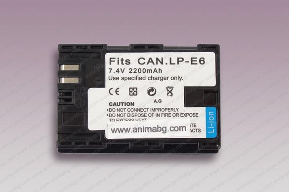 ANIMABG Батерия модел LP-E6 за Canon 5D 6D 7D 60D