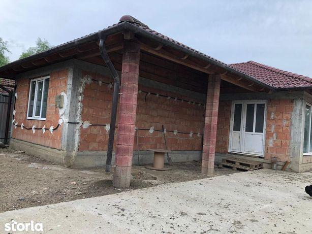 Casa in rosu + 2 hale, zona Vetis