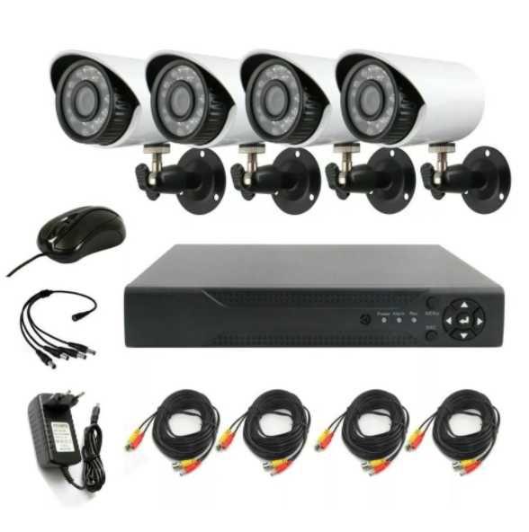 Комплект за Видеонаблюдение Lylu AHD, HD, IR, 4 Камери
