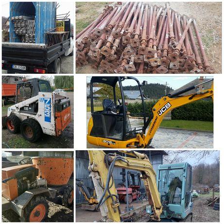 Mini excavator, escavator, miniexcavator, popi, schelă, fose, dumper