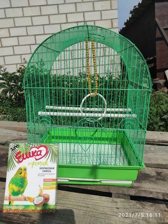 Продам клетку для попугая, 3500 тенге, корм в подарок!