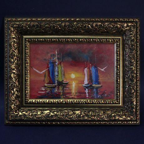 "Картина ""Бордовые краски моря"""