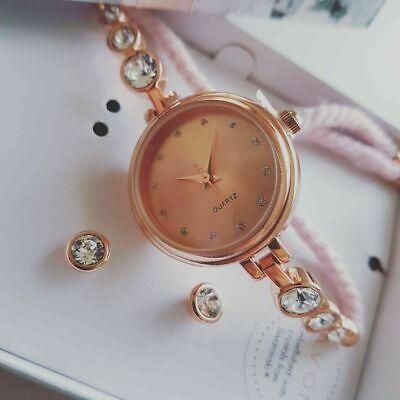 Set Fern Rose cu ceas si cercei Swarovski