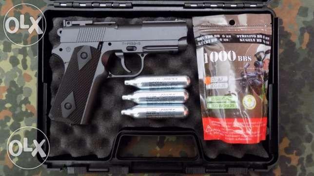 Pistol COLT Metalic TOT CO2 PUTERNIC,pusca Airsoft cu aer comprimat