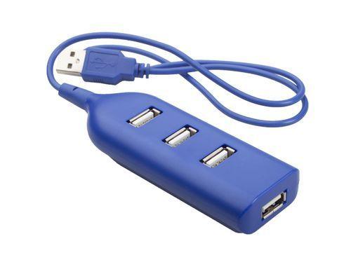 USB хъб с 4 входа и вграден кабел