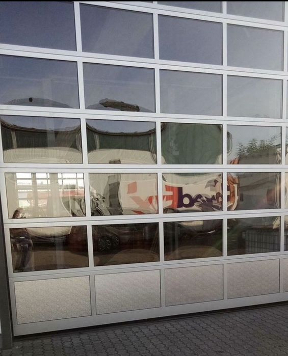Usa poarta sectionala industriala hala garaj H 480 x L 516. Buc 5 Germ Targusor - imagine 1